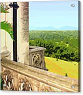Biltmore Balcony Asheville Nc Acrylic Print by William Dey