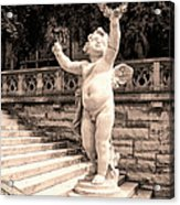 Biltmore Cherub Asheville Nc Acrylic Print by William Dey