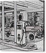 Bings Burger Station Cottonwood Arizona Acrylic Print
