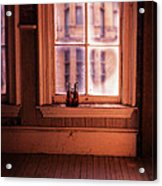 Binoculars On Windowsill Acrylic Print