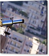 Binoculars View Of City Acrylic Print