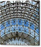 Biosphere2 - Arched Stucture Acrylic Print