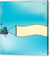 Biplane Aircraft Pulling Advertisement Acrylic Print