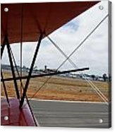 Biplane Taxying Back To Tie Down Acrylic Print