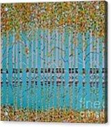Birch Confetti Acrylic Print