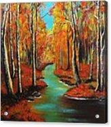 Birch River Acrylic Print