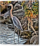 Bird By The Water Acrylic Print