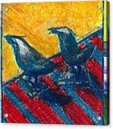 Bird Collage Acrylic Print