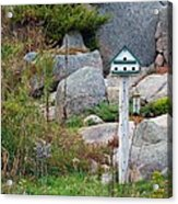 Bird House And Chimes Acrylic Print