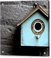Bird House Of Blue By Diana Sainz Acrylic Print