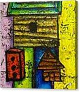Bird House Whimsy Acrylic Print