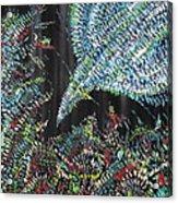 Bird In The Flowers Acrylic Print
