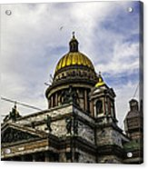 Bird Over St Basil's Cathedral Acrylic Print