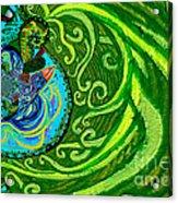 Bird Song Swirl Acrylic Print