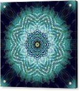 Bird Tail Lotus Mandala Acrylic Print