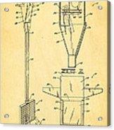 Bird Trap Cat Feeder Patent Art 1979 Acrylic Print