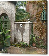 Birdhouse And Gate Acrylic Print