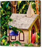Birdhouse Church Acrylic Print