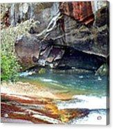 Birdrock Waterfall In Spring 2 Acrylic Print