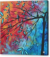 Birds And Blossoms By Madart Acrylic Print