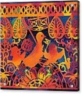 Birds Carnival Acrylic Print by Nekoda  Singer