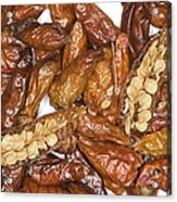 Bird's Eye Chilli Peppers Acrylic Print
