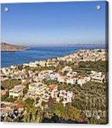 Birds Eye View Of Crete Greece Acrylic Print