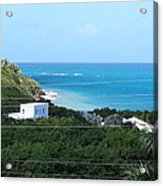 Birds Eye View Of The Studio At The Unfinished Mod Beachfront Dig Acrylic Print