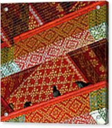 Birds In Rafters Of Royal Temple At Grand Palace Of Thailand  Acrylic Print