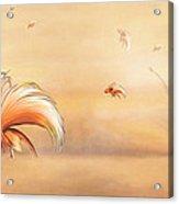 Birds Of Paradise In The Fog Acrylic Print
