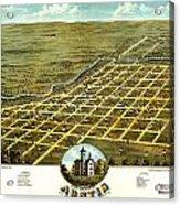 Birdseye View Of Austin Minnesota 1870 Acrylic Print