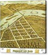 Birdseye View Of Prairie Du Sac Wisconsin 1870 Acrylic Print