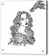 Birdwatcher Wild Ink Acrylic Print