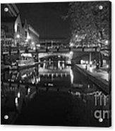 Birmingham Old Canal Bw Acrylic Print