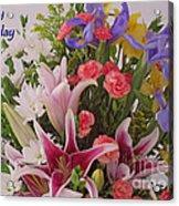 Birthday Bouquet Card Acrylic Print