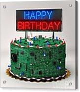 Birthday Cake For Geeks Acrylic Print