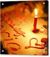 Birthday Cake With Candle Acrylic Print