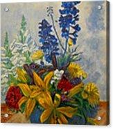Birthday Flowers 1 Acrylic Print by Brian  Pinkey