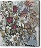 Birthday Flowers Acrylic Print