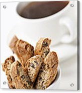 Biscotti And Coffee Acrylic Print