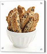Biscotti Cookies In Bowl Acrylic Print