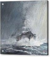 Bismarck Through Curtains Of Rain Acrylic Print