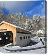 Bissell Covered Bridge In Winter Acrylic Print