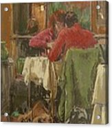 Bistro In Beziers, 2007 Pastel On Paper Acrylic Print