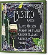 Bistro Paris Acrylic Print by Debbie DeWitt
