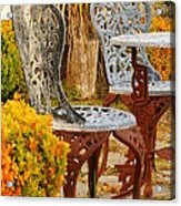 Bistro Table-color Acrylic Print