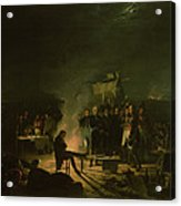 Bivouac Of Napoleon I 1769-1821 On The Battlefield Of The Battle Of Wagram, 5th-6th July 1809, 1810 Acrylic Print