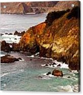 Bixby Bridge Of Big Sur California Acrylic Print by Barbara Snyder