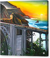 Bixby Coastal Bridge Of California At Sunset Acrylic Print