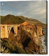 Bixby Creek Bridge In Big Sur Acrylic Print